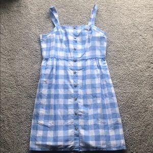 J.Crew Factory Button-front dress in linen-cotton